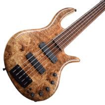Elrick Gold e-volution spalted myrtle burl  5 strings