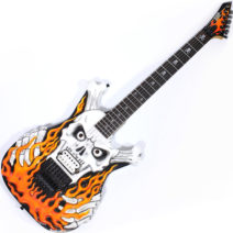 1992 ESP « flaming skull » Skull & Bones limited