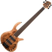 Elrick Gold Series 5-String Bass, Spalted Maple Burl top