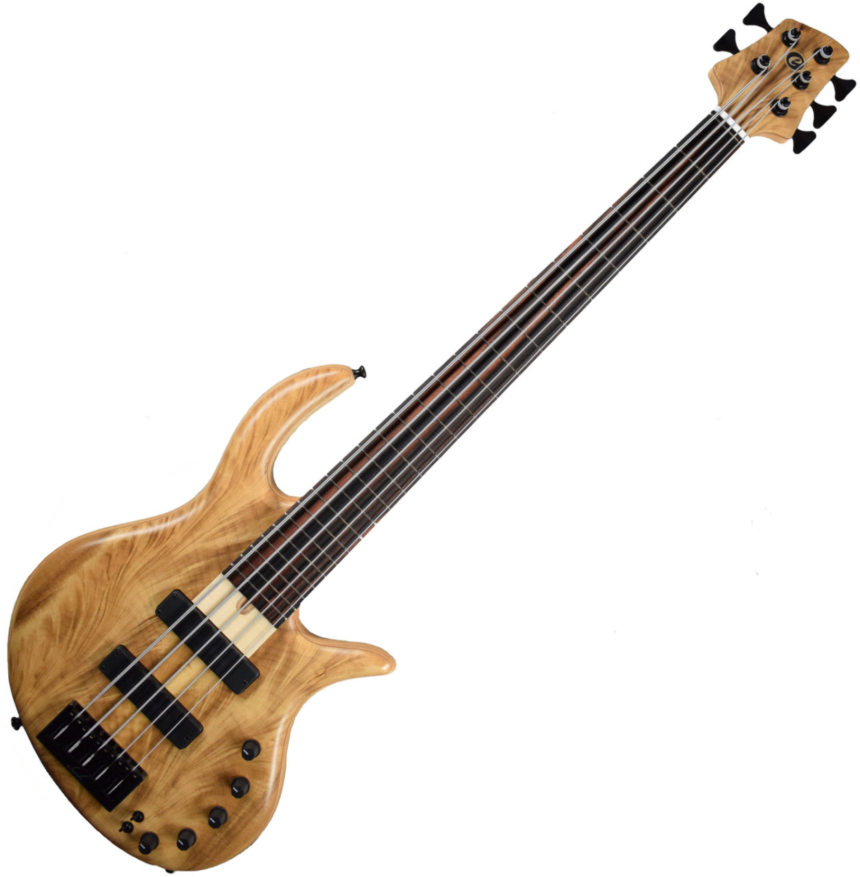 Elrick Gold e-volution Crotched myrtle burl  5 strings