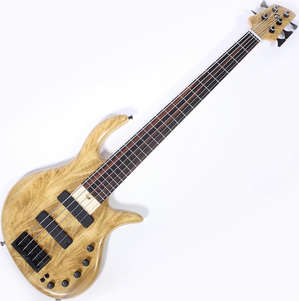 Elrick Gold e-volution Crotched myrtle burl  5 strings