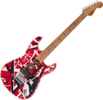 EVH Striped Serie Frankie Red with Black Stripes Relic