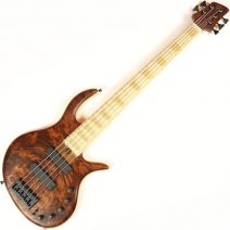 Elrick Gold e-volution 5 strings Burled Redwood top MN