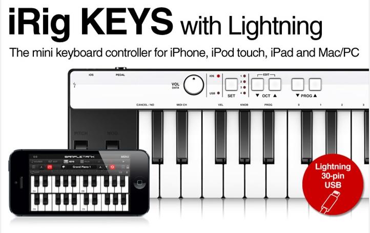 iRig KEYS keyboard with Lightning