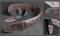 Thum Guitar & Bass Leather Strap Brown or Black 1