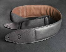 Thum Guitar & Bass Leather Strap Brown or Black